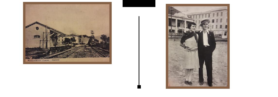 1920. Giovanni, já Pizzaiolo, em um momento de descontração, na praia com sua irmã