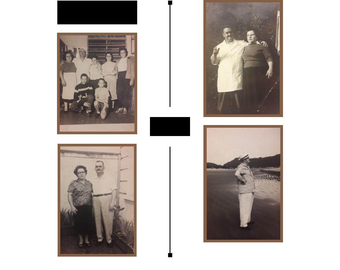 Década de 50, Cantina Celeste. Rua Brigadeiro Luís Antonio. Giovanni, Celeste e seus filhos e parentes.